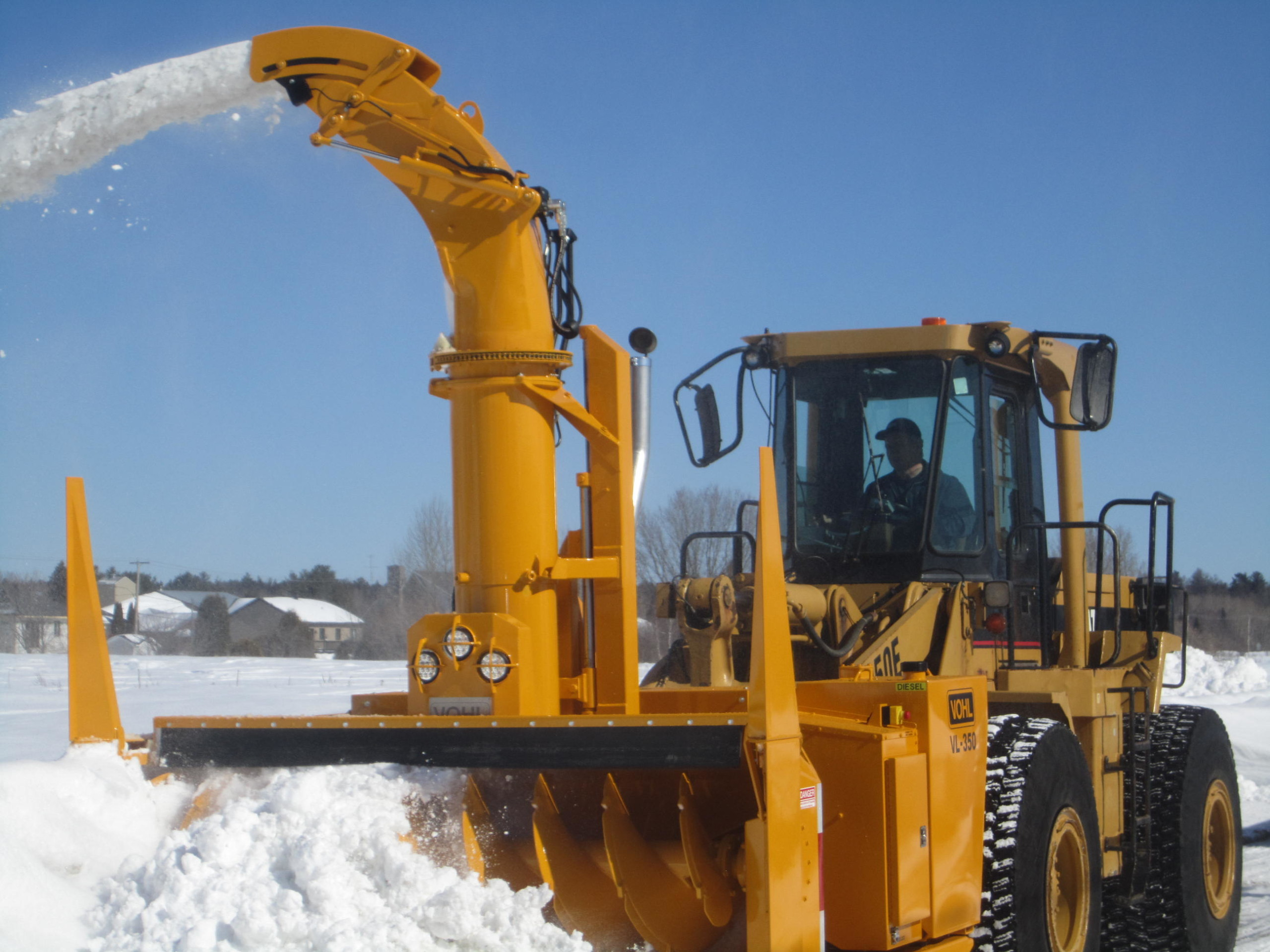 New snow removal machine